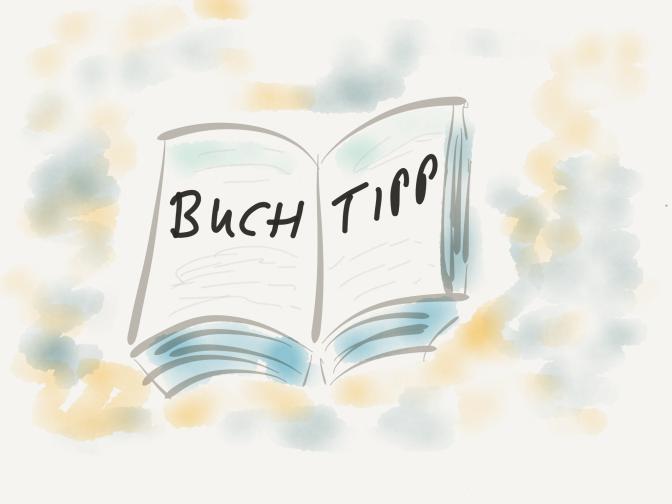 """Zeichnung Buch mit Inschrift """"Buchtipp"""""""