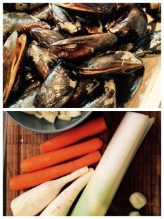 Zutaten für Muscheln