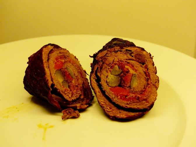Steinpilzroulade mit Koriander-Möhrchen