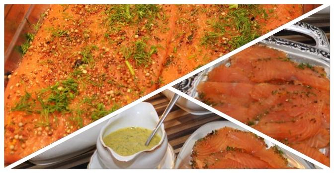 Aromatischer Graved Lachs