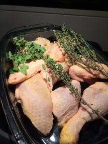 Vorbereitungen Coq au Calvados