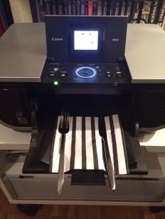Besteck auf einem Drucker