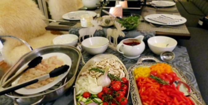 Ein ideenreiches Raclette mit Grill zu Silvester