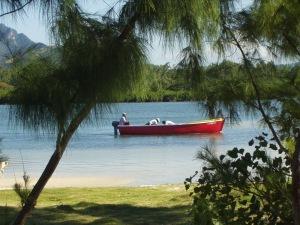 Fischerboot vor Mauritius