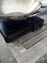 Ein einfacher Gaskocher für draußen