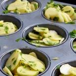 Kartoffelscheiben in der Muffinform