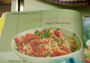 Tomaten-Bulgur-Salat im Rezept-Heftchen