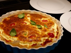 Parmesan-Tarte frisch aus dem Ofen