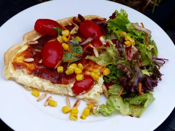 Parmesan-Tarte mit Tomaten – gemogelt