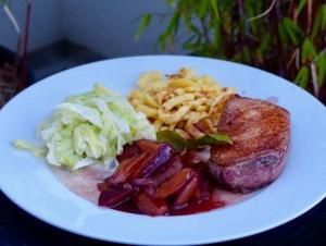 Festessen mit Ente und Zwetschgen-Portwein-Soße