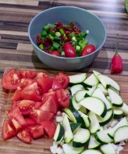 Einige Gemüse zur Nudelpfanne