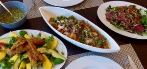Abendmenü thailändische Art