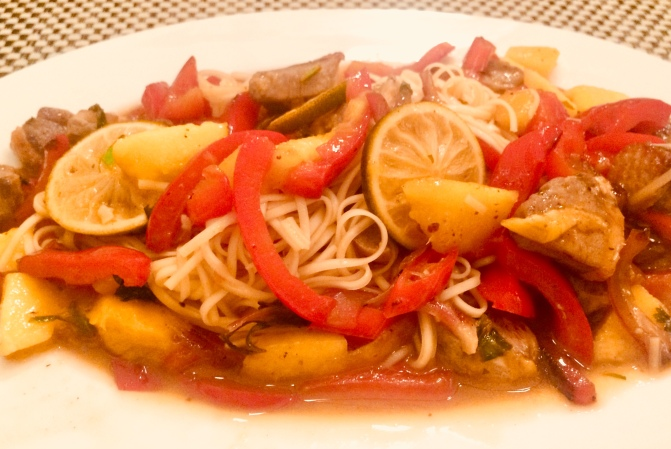 Resteessen #2 – Entenbrust, Mango, Paprika