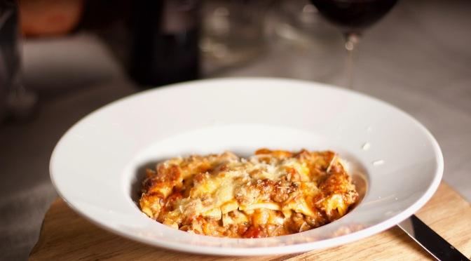 Am nächsten Tag natürlich Lasagne!